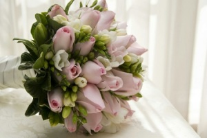 Bridal Bouquet of Roses and Freesia